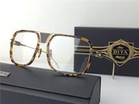 Wholesale Eyewear Children - Luxury brand eyewear frame flat grandmaster fiver transparent lens full frame 1 large optical frame for men punk style top quality