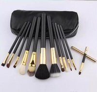 Wholesale Low Price Makeup Brushes - NEW MC Makeup Brushes lowest price High quality new HOT 12 Pcs set Professional Makeup Brushes with leather pouch