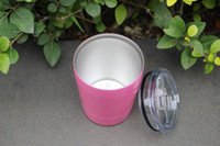 Wholesale Small Steel Spoon - 25pcs In stock 9oz 260ML Small Wine Cups 304 Stainless Steel Wine Tumbler with lid straws for Beer Cocktail