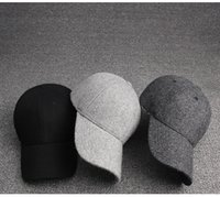 Wholesale United Hat - 2016 The new Europe and the United States add thick wool autumn and winter outdoor naked baseball cap male lady warm fashion hat