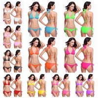 Wholesale Pink Whips - Women's Swimwear Whip Lace Bikini Sexy Pillow Swimsuit Tassel swimsuit With Chest Pad Without Steel Care