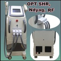 Wholesale New Light Hair Removal - opt shr e light machine ipl skin hair removal machine q switch nd yag laser tattoo removal dark skin care new skin rf