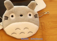 ingrosso borsa della borsa di kawaii-Vendita CALDA all'ingrosso - Kawaii TOTORO Cat - Formato 10CM Plush Coin Purse Wallet Pouch Case BAG; Pendente Borse Borsa Beauty Holder BAG Borsa