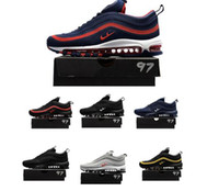 Wholesale Cheap Men Name Brand Sneakers - Cheap Max 97 name brand sneakers maxes kpu running shoes for men training runners outdoor shoe mens hiking sneakers free shipping
