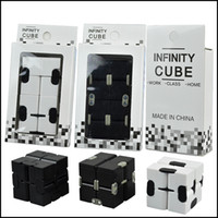 Wholesale Dhl Neo - Fidget toy Infinity Cube Stress Relief Focus Decompression Anxiety Toys Rebiks Cube Neo Magic Infinity Cube Puzzle via DHL