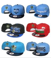 Wholesale Black Football Helmet - 2017 Wholesale NRL Cap Hat Baseball snapback hats for man With Logo Tags Football Helmet Outdoor Sports Hat NRL Ladder Mix Order