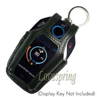 Wholesale Bmw Leather Key Cover - Leather Remote Key Fob Cover Case Protector Holder For BMW 2016 2017 7 Series G11 G12 Led Player key