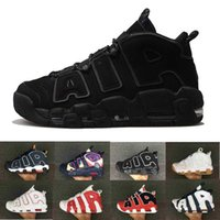 Wholesale Shoes Big Rhinestones - [With Box]Air More Uptempo OG White Gum Olympic Mens Basketball Shoes Wholesale Top Quality Big Air Pippen Athletic Sport Sneakers US 5.5-13