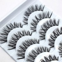 Wholesale Tool For Curling Eyelashes - False Eye Lash Natural Long Curling Thick Fake Eyelashes Women Makeup Tools Accessories 5 Pairs Fashion eye lashes for Woman Lady