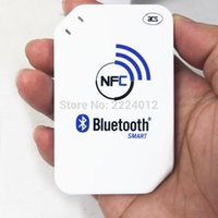 Wholesale Rfid Reader Bluetooth - Wholesale- 2016 Newest 13.56mhz ACR1255-J1 NFC Bluetooth Wireless Contactless RFID Reader Writer Support ISO14443 S50 Chip, NFC Card