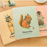 Wholesale Wholesale Book Binding Supplies - Wholesale- Drawing Note Greatful retro cartoon Notebook Diary Book Pocket Notepads Sketchbooks Stationery Office Material School Supplies