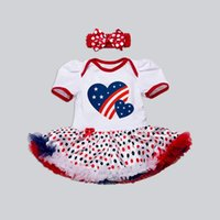 Unisex special occasions photography - American Flag Clothing Sets for Infants Ruffle Tutu Dress and Headband set Special Occasions Photography Props Thanksgiving Clothes