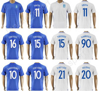 Wholesale Custom Soccer Jerseys Uniforms - 17 18 Soccer Greece Jersey 2017 Thailand Custom 11 Kostas Mitroglou 15 Vasilis Torosidis Football Shirt Uniform 10 FORTOUNIS 10 KARAGOUNIS