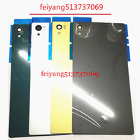 Wholesale Battery For Xperia Mini - A quality For Sony Xperia Z5 E6603 E6633 E6653 E6683 Back Glass Battery Door Housing Rear Back Cover Z5 Mini Replacement Spare Parts