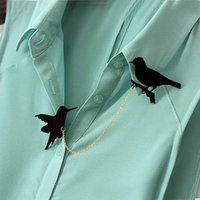 ingrosso spille in plastica di nozze-Commercio all'ingrosso Black Swallow Uccelli Spille Hijab Pins Up Plastic Wedding Broach Scarf Clip Fleur de Lis per le donne all'ingrosso di gioielli