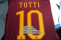 Wholesale Slim Short Free Shipping - 1617 roma home player version slim fit jersey, 10 totti available , free shipping top quality