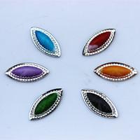 Wholesale 24mm Eyes - 100PCS 11*24mm Horse eye Flatback Beads Pointed Top Resin Rhinestone For Jewelry decoration ZZ21