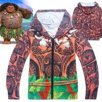 Wholesale Zipper Hoodie Sweaters Wholesale - MOANA Maui boys and girls children new wholesale children sweater zipper cardigan moana cartoon Hoodies & Sweatshirts