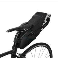 sıcak satıcı siyah toptan satış-Bisiklet Kuyruk Paketi Dağ Bisikleti Arka Koltukta Paketi Yüksek Kapasiteli Su Geçirmez Yağmur Siyah Polyester Malzeme Gözyaşı Direnci Sıcak Satmak 65yr J1