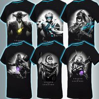 Wholesale Glow Dark T Shirts - 2016 Mens 3D Glow In The Dark Luminous T Shirt League of legends Men Printed Short Sleeve 2016 Summer Men Clothes 13Styles