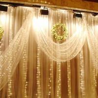 Wholesale Purple Ball Lamp - 10M x 3M 1000LED 1000 10*5M 1600LED curtain lights christmas light xmas String Fairy Wedding Curtain Lights Light Lamp Lighting Freeshipping