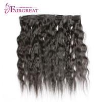 Wholesale Virgin Hair Clip Wavy - Peruvian Virgin Hair Clip In Human Hair Extensions Clip In Vet And Wavy 6 Pcs Set Peruvian Kinky Straight Hair