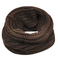 Wholesale Tube Loop Wholesale - Wholesale- IMC Lady Winter knitting Circle Cowl Crochet Snood Tube Neck Loop Warmer Scarf Shawl