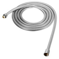 Metal 30CM  The Best Quality Long Stainless Steel 1 2 inch Bath Shower Flexible Hose Pipe Bathroom Product Easy To Install For 3m Length