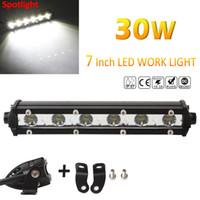 Wholesale Spot Led Slim - Slim 7inch 30W 3000LM Spot LED Single Row Work Light Bar CREE OFFROAD DRIVING SUV CLT_41N