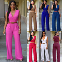 Wholesale clubwear black romper - Retail and wholesale New 13 Colors Women Ladies Clubwear V Neck Playsuit Bodycon Party Jumpsuit Romper Trousers Free Shipping CL118