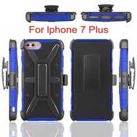 Wholesale Iphone Sleeve Clip - For Iphone 6 6plus 7 7 Plus T-Type Clip Back Sleeve For Samsung S6 S6 Edge S7 S7 Edge Case Dirt Resistant Quakeproof