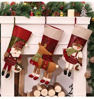 Wholesale New Arrival High Quality Christmas Stockings Decor Ornament Party Decorations Xmas Gifts Santa Christmas Stocking Candy Socks Bags