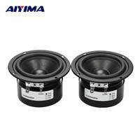 Wholesale Full Audio System - Wholesale- AIYIMA 2pcs HIFI Speaker Full Range Bass Subwoofer Tweeter New 3 Inch 15 W DIY Home Theater Loudspeaker system Audio Speakers
