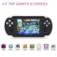 PAP Gameta II 2 palmari Console di gioco Mini portatili da 64 bit Video giocatori HD TFT 4GB Supporto TV Out MP3 MP4 MP5 Videocamera FC