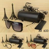 Wholesale Big Size Sunglasses - New Top quality brand Big size Pilot Design mens womans Sunglasses with Luxury origianal box case eyeglasses gold frame Vintage eye glasses