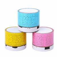 Wholesale Music Stand Led - LED Portable Mini BluetoothLED Portable Mini Bluetooth Speakers Wireless Hands Free Speaker With TF USB FM Mic Blutooth Music Free DHL