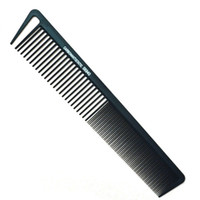 Wholesale Carbon Fiber Heated - Wholesale- Heat Resistant Salon Carbon Antistatic Cutting Comb Large Sectioning Comb Fiber Combs Anti Static Barber Tool