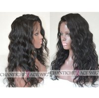 Wholesale Nice Lace Front Wigs - Nice glueless full lace human hair wigs natural curl peruvian virgin human hair lace front wigs with baby hair