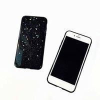 Wholesale Iphone Case Bling Starry - Glitter Soft TPU Cases Luxury Bling Star Shinning Black Starry Sky Back Cover Case For iphone 7 6 6s plus OPP BAG