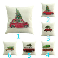 Wholesale Quality Pillow Cases - High Quality Linen Merry Christmas Cushion Cover Xmas Square Throw Pillow Case For Home Mr Reindeer Decorateive Cushion Cover
