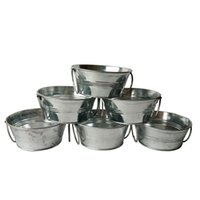 Wholesale Egg Plant - Free shipping 1Pcs lot D11*H5CM Succulent pots Tin box easter egg pot Round Planter small Nursery Pot