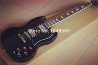 Wholesale Gloss Standard - Wholesale SG Guitars,black gloss finish ebony fingerboard SG Standard electric guitar