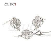 Wholesale womens sterling silver earrings - Womens Charm Jewelry Set Accessories of 925 Sterling Silver Pendant and Stud Earrings You deserve it