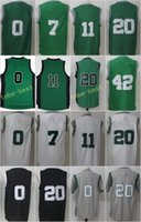 Wholesale Flash Trading - 2017 New Traded 11 Kyrie Irving Jerseys 7 Jaylen Brown 0 Jayson Tatum 42 Al Horford 20 Gordon Hayward Jersey Green White Black Gray Man