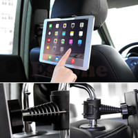 Wholesale Back Seat Ipad Holder - Wholesale- NEW Universal Back 360 Degree Rotation Adjustable Car Seat Headrest Mount Holder Stand For Samsung iPad GPS Tablet PCGAF5