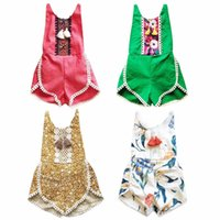 Wholesale Baby Rompers Toldder Girl Rompers Summer New Newborn Girls Lace Tassel Romper Baby Clotihng