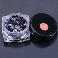 Wholesale Thin Nail Tips - Wholesale 1g Nail Art Round Decorations New Mini Thin Mixed Colorful 1-3mm Designs Glitter Paillette Nail Art Tips