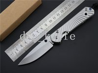 HOT Chris Reeve Grande CR Classic Sebenza 21 Folding camping knife 440C Blade com Ripple Shape Full Steel Handle Melhor presente EDC Pocket Knives