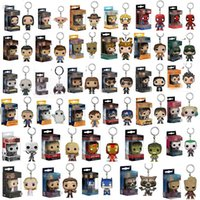 Spedizione gratuita Funko POP Gxhmy Marvel Super Hero Harley Quinn Deadpool Harry Potter Goku Spiderman Joker Game of Thrones Figurine Toy Keycha