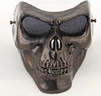 Wholesale army full face mask for sale - Skull mask men CS army soldier Horror Full face terror masquerade masks Warrior armor carnival Airsoft biker scary Halloween mask